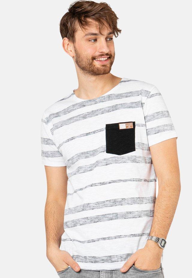 MIT STREIFEN-PRINT - Print T-shirt - black