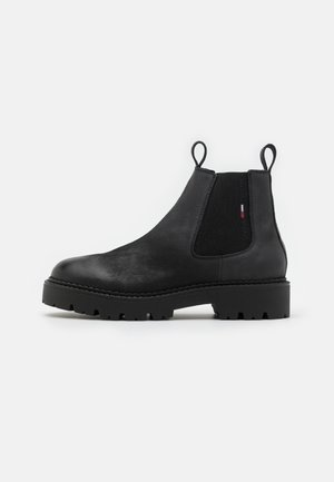 BRUSHED CHUNKY CHELSEA BOOT - Classic ankle boots - dark ash/black