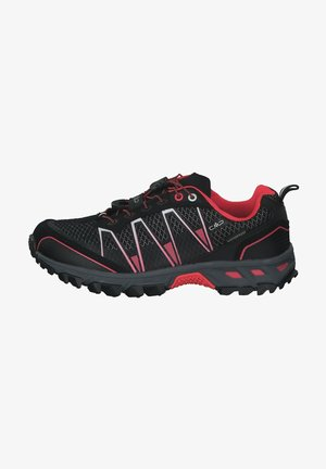 Hiking shoes - nero red fluo