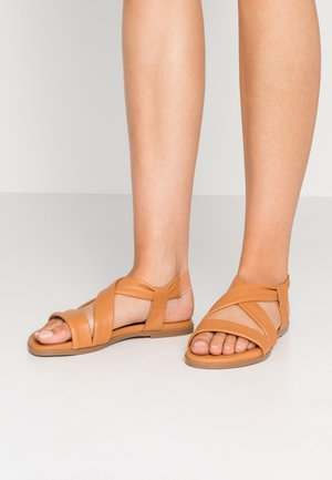 GALARADEB - Sandals - cognac