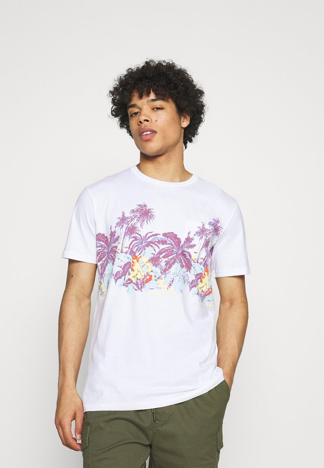 MYSTIC SUNSET - T-shirt imprimé - white