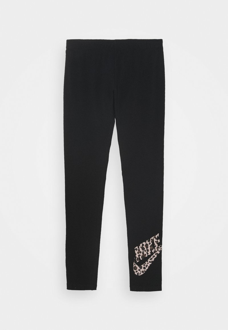 Nike Sportswear - FAVORITE - Leggings - Trousers - black/fossil stone