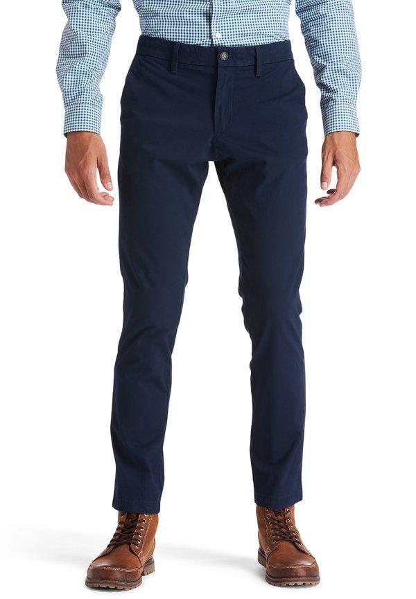 Timberland Spodnie materiałowe - dark sapphire/granatowy Odzież Męska TNOP