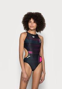 Arena - ONE DEBUG ONE PIECE - Swimsuit - black/multi - 1