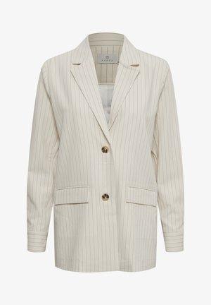 Halflange jas - antique white