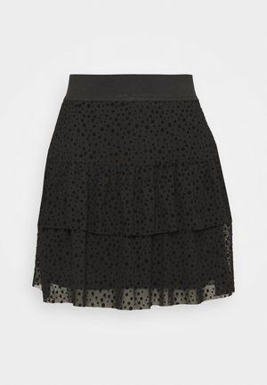 ONLSANNA SHORT SKIRT  - A-line skirt - black