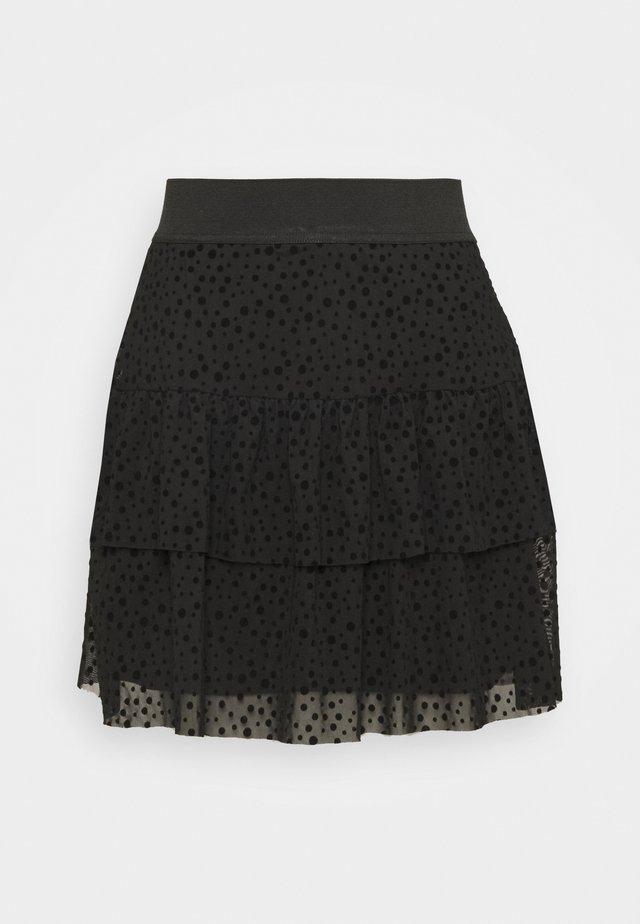 ONLSANNA SHORT SKIRT  - Jupe trapèze - black