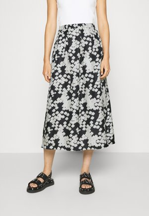 LONG SEVERIN - A-line skirt - black