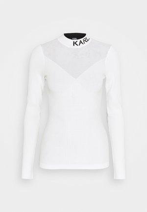 POINTELLE LOGO  - Sweter - off-white