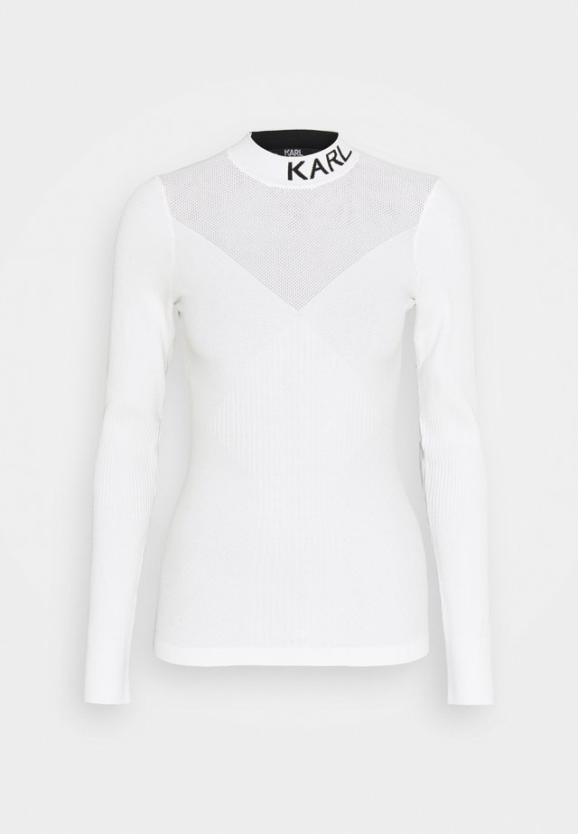 POINTELLE LOGO  - Pullover - off-white
