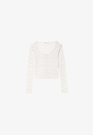 MIT KNOPFLEISTE - Long sleeved top - white