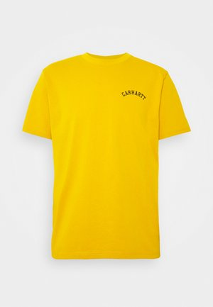UNIVERSITY SCRIPT  - Basic T-shirt - colza/black