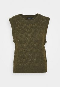 Soaked in Luxury - TUESDAY POINTA VEST - Jumper - military olive - 0