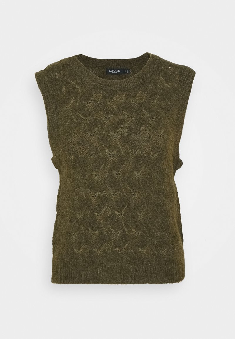 Soaked in Luxury - TUESDAY POINTA VEST - Jumper - military olive