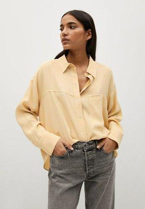 LEONE - Button-down blouse - senfgelb