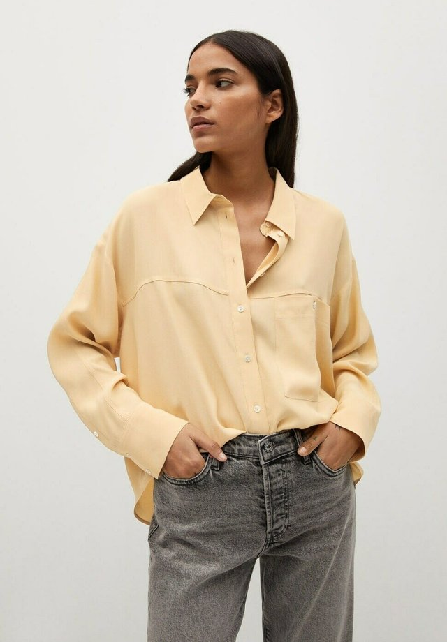 LEONE - Button-down blouse - senfgelb