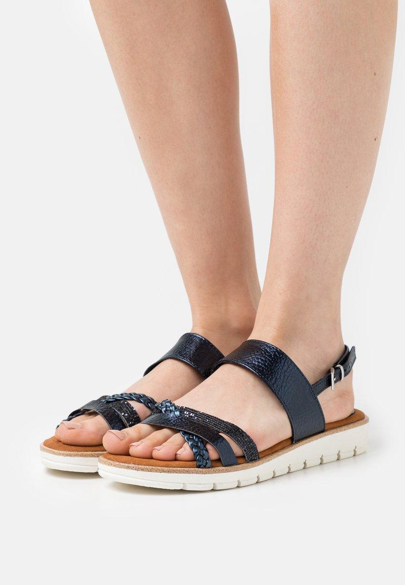 Marco Tozzi - Sandals - navy metallic