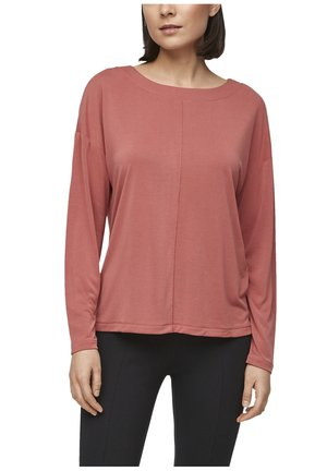 DROPPED SHOULDER - Long sleeved top - coral