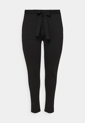 CARPEVER BELT PANT - Bukse - black/piping