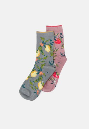 FRUTTA SOCKS 2 PACK - Sokken - pebble grey/rose pink
