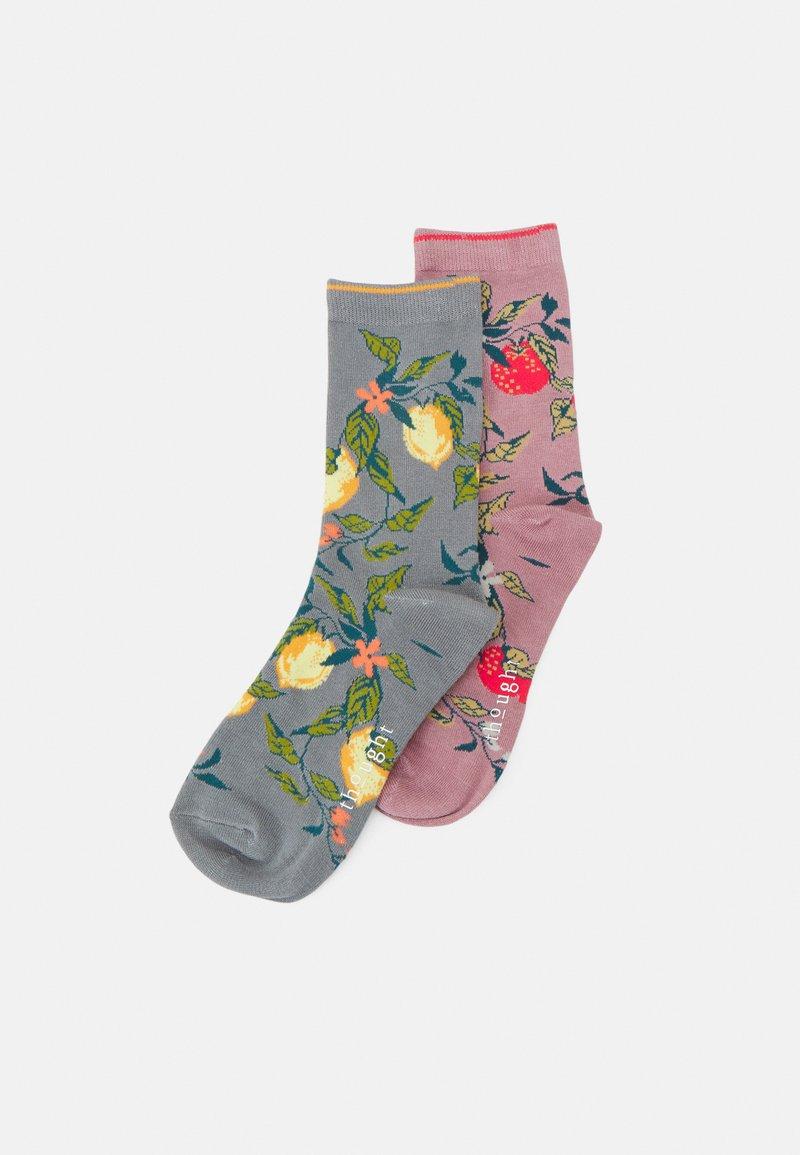 Thought - FRUTTA SOCKS 2 PACK - Sokken - pebble grey/rose pink