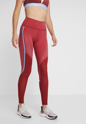 SPORT CLIMACOOL WORKOUT HIGH WAIST LEGGINGS - Punčochy - active maroon/black