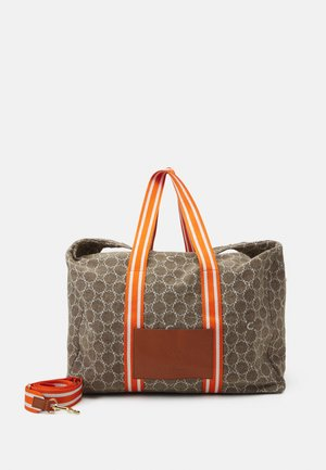 LOGO - Weekend bag - beige