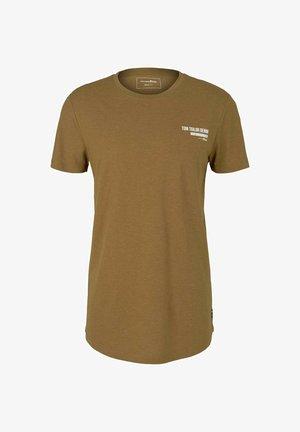 T-shirt - bas - deep cognac melange