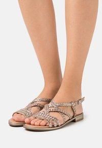 Caprice - Sandals - taupe metallic - 0