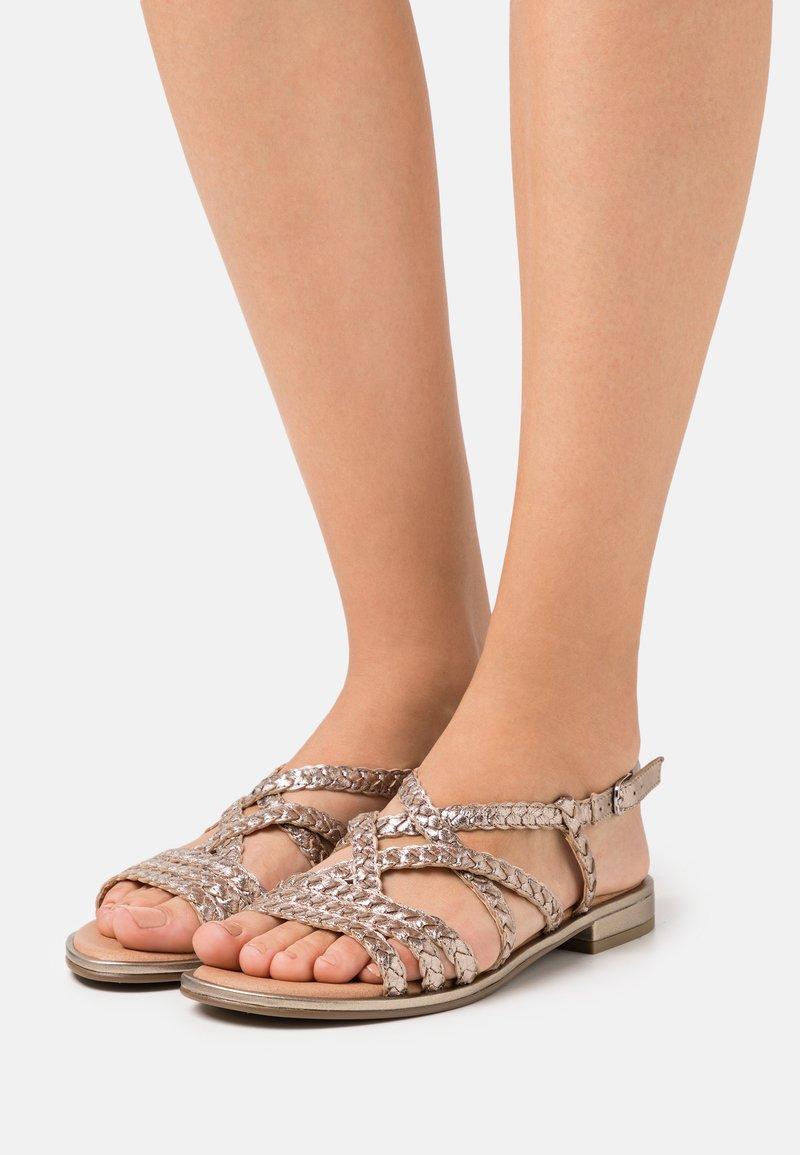 Caprice - Sandals - taupe metallic