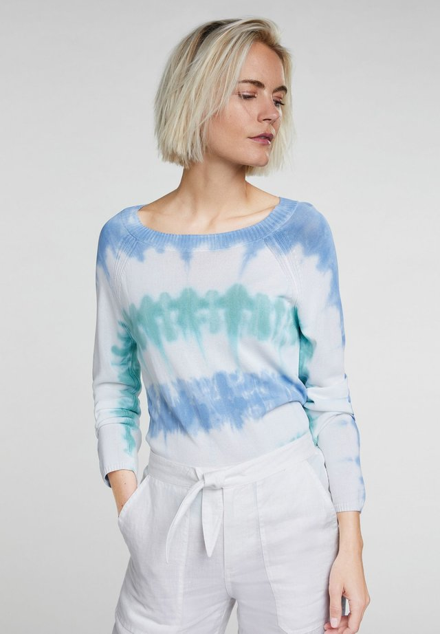 IN BATIK OPTIK - Pullover - lt green blue