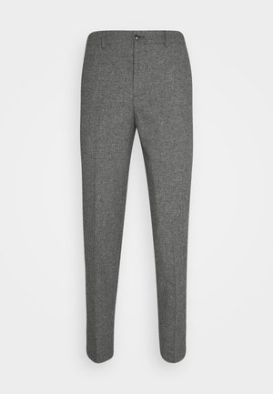 SLHSLIMTAPERED THEO PANTS - Tygbyxor - grey/houndstooth
