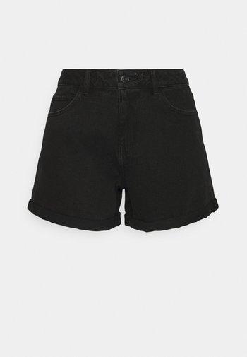 VMNINETEEN MIX - Szorty jeansowe - black