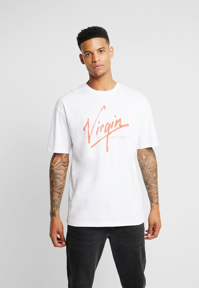 VIRGIN RECORDS - Printtipaita - white no wash