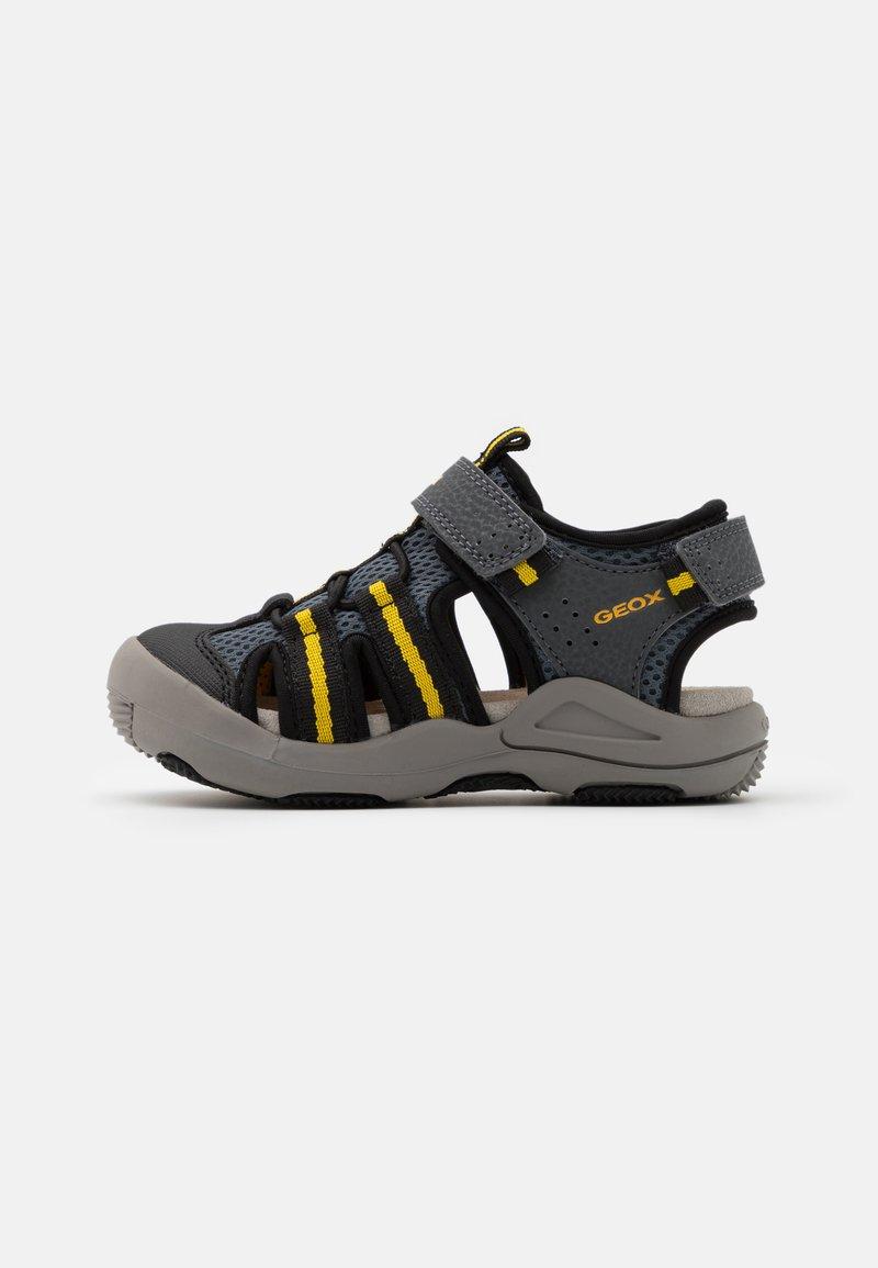 Geox - JR KYLE - Walking sandals - grey/yellow