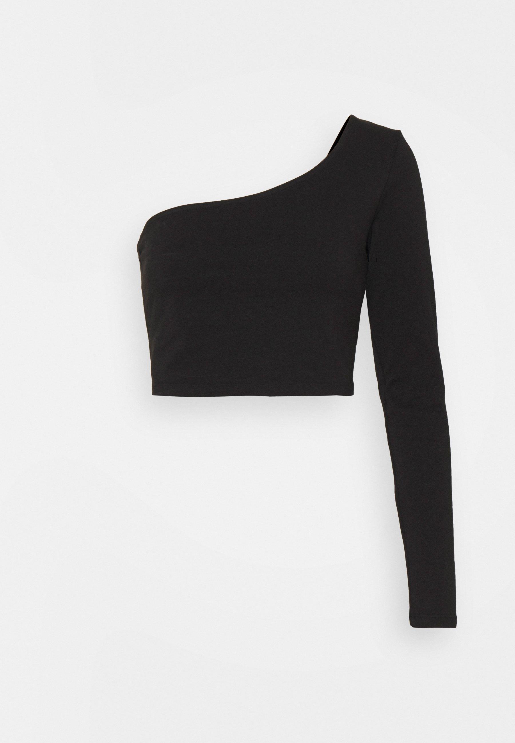 Women ONE SLEEVE CROP TOP - Long sleeved top