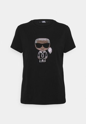 IKONIK RHINESTONE KARL - Print T-shirt - black