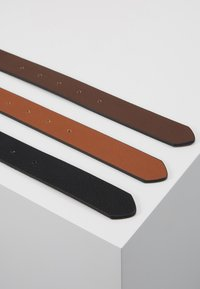 Pier One - 3 PACK - Belt - cognac/black/brown - 3