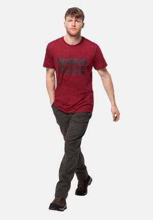 Print T-shirt - dark lacquer red
