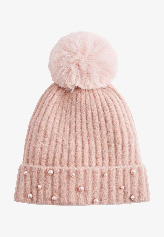 PEARL EFFECT - Beanie - pink