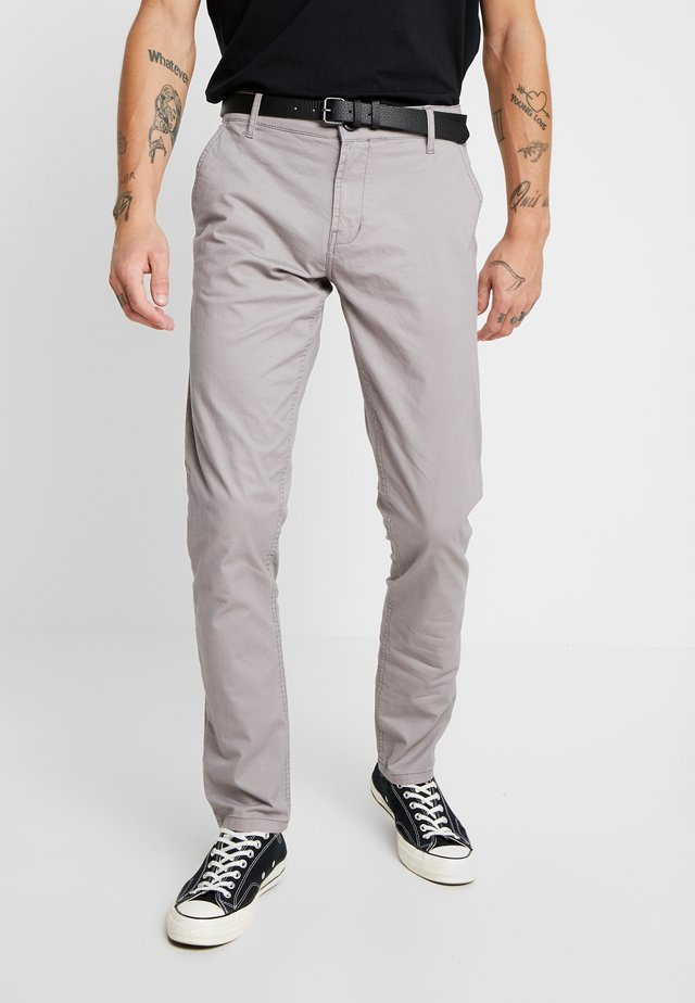 MENS STRETCH WITH BELT - Chino - grey