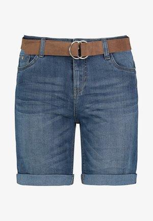 SUBLEVEL BERMUDA  - Denim shorts - middle-blue