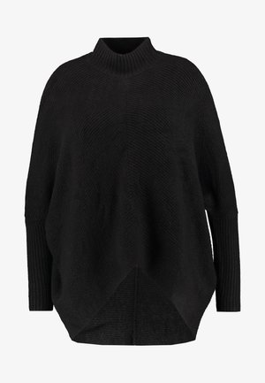 ELEVATED ESSENTIALS HIGH NECK DETAIL JUMPER - Jumper - black