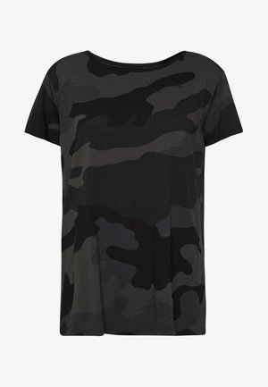 ALLOVER TOP - Print T-shirt - raven