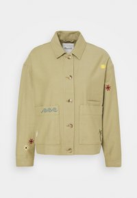 Madewell - MAUI CHORE EMBROIDERED JACKET - Summer jacket - ash green - 0