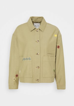 MAUI CHORE EMBROIDERED JACKET - Korte jassen - ash green