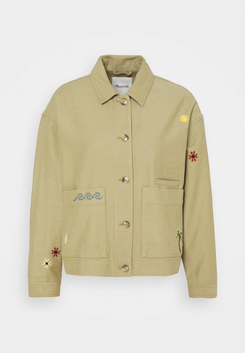 Madewell - MAUI CHORE EMBROIDERED JACKET - Summer jacket - ash green