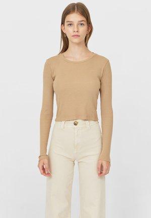 Long sleeved top - light brown