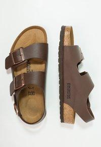 Birkenstock - MILANO - Sandals - dark brown - 1
