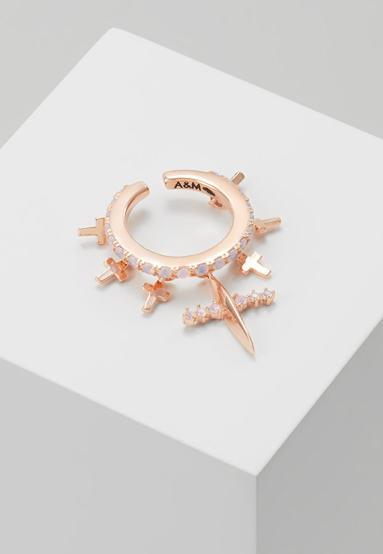 Astrid & Miyu - MYSTIC CROSS EAR CUFF - Boucles d'oreilles - rose gold-coloured